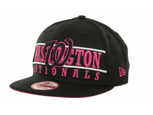 Washington Nationals New Era MLB Neon Bar Strapback 9FIFTY Cap Hats