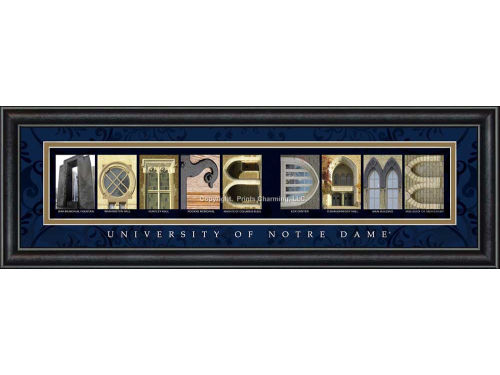 Notre Dame Fighting Irish Campus Letter Art Classic