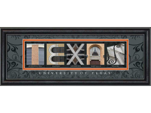Texas Longhorns Campus Letter Art Classic
