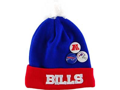 Buffalo Bills NFL Button Up Knit Hats