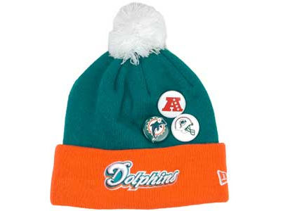 Miami Dolphins NFL Button Up Knit Hats