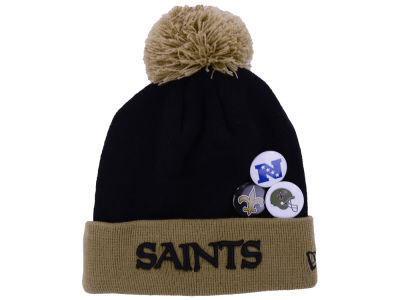 New Orleans Saints NFL Button Up Knit Hats