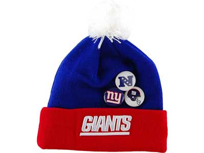 New York Giants NFL Button Up Knit Hats