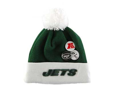 New York Jets NFL Button Up Knit Hats