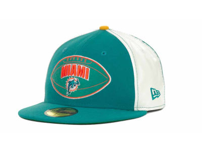 Miami Dolphins NFL Retro Patch 59FIFTY Cap Hats