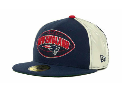 New England Patriots NFL Retro Patch 59FIFTY Cap Hats