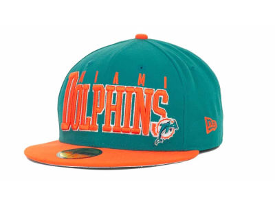 Miami Dolphins NFL Chop Block 59FIFTY Cap Hats