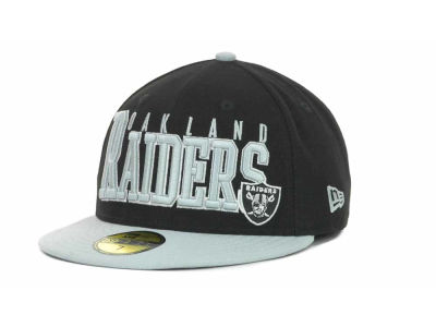 Oakland Raiders NFL Chop Block 59FIFTY Cap Hats