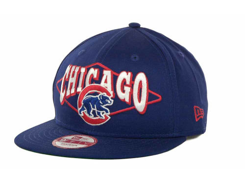 Chicago Cubs New Era MLB Geo Block Snap 9FIFTY Cap Hats