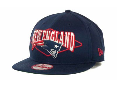 New England Patriots NFL Geo Block Snapback 9FIFTY Cap Hats