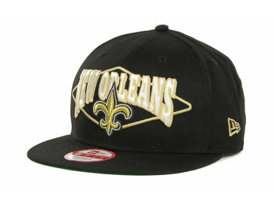 New Orleans Saints NFL Geo Block Snapback 9FIFTY Cap Hats