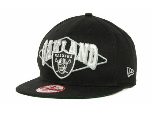Oakland Raiders New Era NFL Geo Block Snapback 9FIFTY Cap Hats