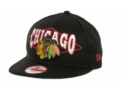 Chicago Blackhawks NHL Geo Block Snap 9FIFTY Cap Hats