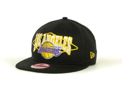 Los Angeles Lakers NBA Hardwood Classics Geo Block Snap 9FIFTY Cap Hats