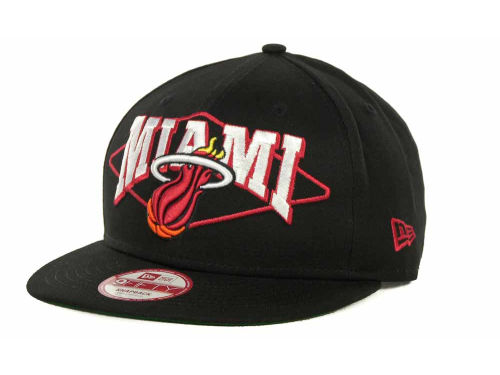 Miami Heat New Era NBA Hardwood Classics Geo Block Snap 9FIFTY Cap Hats