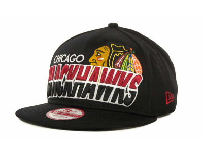 Chicago Blackhawks NHL Team Horizon Snapback 9FIFTY Cap Hats