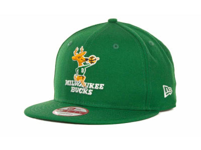Milwaukee Bucks NBA Hardwood Classics Base Snapback 9FIFTY Cap Hats