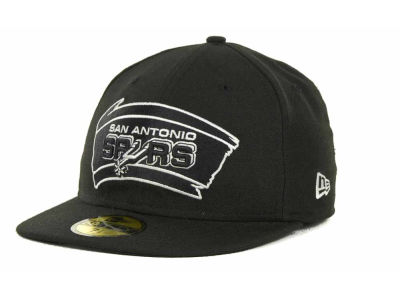 San Antonio Spurs NBA Hardwood Classics Black White 59FIFTY Hats