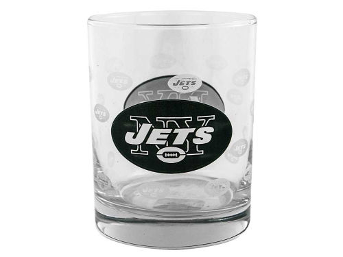 New York Jets Boelter Brands Satin Etch Rocks Glass