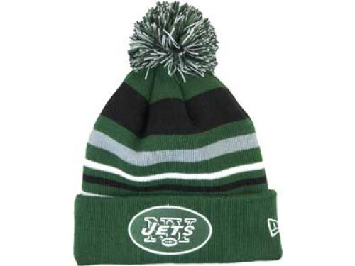 New York Jets New Era NFL Stripe Out Knit Hats