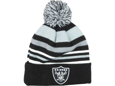 Oakland Raiders NFL Stripe Out Knit Hats