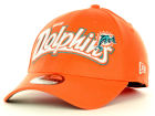 Miami Dolphins New Era NFL Tail Swoop Classic 39THIRTY Cap Stretch Fitted Hats