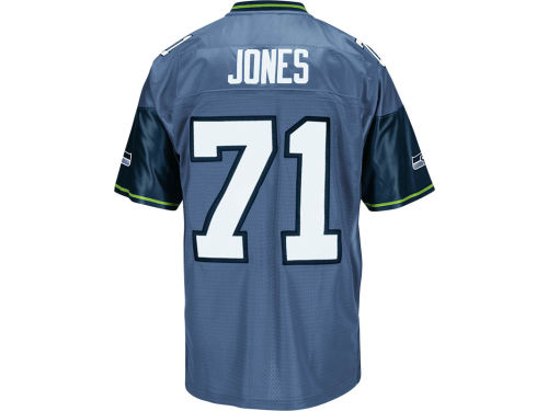 Seattle Seahawks Walter Jones Mitchell and Ness NFL Replica M&N Jersey