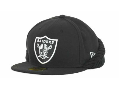Oakland Raiders NFL Knit Flipdown 59FIFTY Cap Hats