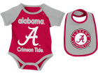 Alabama Crimson Tide Colosseum NCAA Newborn Junior Creeper/Bib Set Newborn & Infant
