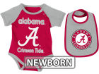 Alabama Crimson Tide Colosseum NCAA Newborn Rocker Bib/Bodysuit Set Infant Apparel