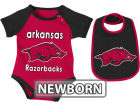 Arkansas Razorbacks Colosseum NCAA Newborn Rocker Bib/Bodysuit Set Infant Apparel