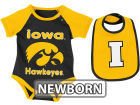 Iowa Hawkeyes Colosseum NCAA Newborn Rocker Bib/Bodysuit Set Infant Apparel