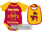 Iowa State Cyclones Colosseum NCAA Newborn Rocker Bib/Bodysuit Set Infant Apparel