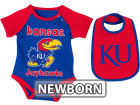 Kansas Jayhawks Colosseum NCAA Newborn Rocker Bib/Bodysuit Set Infant Apparel