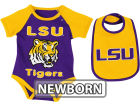LSU Tigers Colosseum NCAA Newborn Rocker Bib/Bodysuit Set Infant Apparel