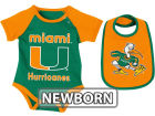 Miami Hurricanes Colosseum NCAA Newborn Rocker Bib/Bodysuit Set Infant Apparel