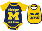 Michigan Wolverines Colosseum NCAA Newborn Junior Creeper/Bib Set Newborn & Infant