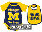 Michigan Wolverines Colosseum NCAA Newborn Rocker Bib/Bodysuit Set Infant Apparel