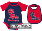 Mississippi Rebels Colosseum NCAA Newborn Rocker Bib/Bodysuit Set Infant Apparel