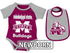 Mississippi State Bulldogs Colosseum NCAA Newborn Rocker Bib/Bodysuit Set Infant Apparel
