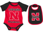 Nebraska Cornhuskers Colosseum NCAA Newborn Junior Creeper/Bib Set Infant Apparel
