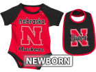 Nebraska Cornhuskers Colosseum NCAA Newborn Rocker Bib/Bodysuit Set Infant Apparel