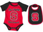North Carolina State Wolfpack Colosseum NCAA Newborn Junior Creeper/Bib Set Newborn & Infant
