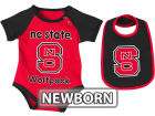 North Carolina State Wolfpack Colosseum NCAA Newborn Rocker Bib/Bodysuit Set Infant Apparel