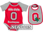 Ohio State Buckeyes Colosseum NCAA Newborn Rocker Bib/Bodysuit Set Infant Apparel