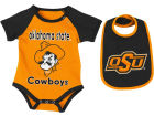 Oklahoma State Cowboys Colosseum NCAA Newborn Junior Creeper/Bib Set Newborn & Infant