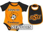 Oklahoma State Cowboys Colosseum NCAA Newborn Rocker Bib/Bodysuit Set Infant Apparel