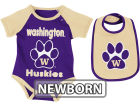 Washington Huskies Colosseum NCAA Newborn Rocker Bib/Bodysuit Set Infant Apparel