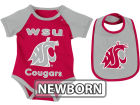Washington State Cougars Colosseum NCAA Newborn Rocker Bib/Bodysuit Set Infant Apparel