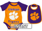 Clemson Tigers Colosseum NCAA Infant Rocker Bib/Bodysuit Set Infant Apparel